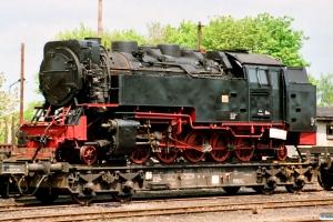 DR 99 ? læsset på fladvogn. Wernigerode 18.05.1991.