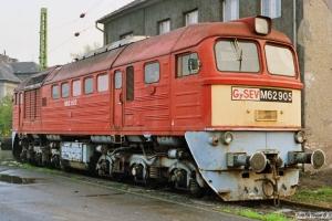 GySEV M62 905. Sopron 14.04.1991.