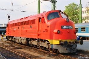 MÁV M61 004. Budapest-Déli 14.04.1991.