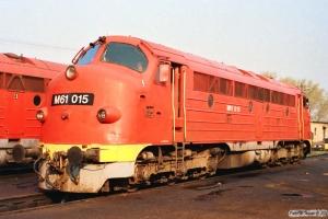 MÁV M61 015. Tapolca 15.04.1991.