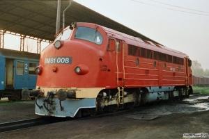 MÁV M61 008. Tapolca 16.04.1991.