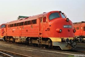 MÁV M61 020. Tapolca 16.04.1991.
