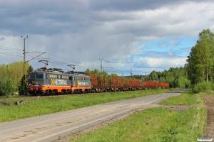 HCTOR 142.211+142.002 med GT 41742. Sundsvall Västra - Töva 08.06.2015.