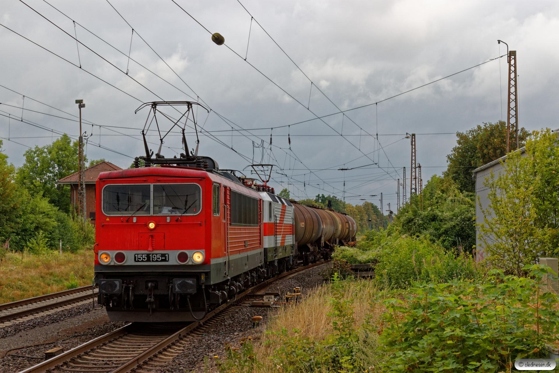 FWK 155 195-1+EBS 243 822-4. Banteln 13.08.2019.