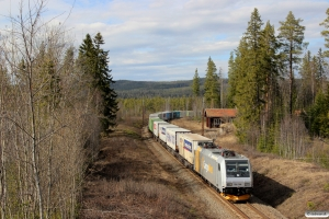 CN 185 708-6 med GT 41907. Backsjön - Selsjön 03.05.2016.
