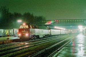 DSB MZ 1444 med P 594 Fh-Kh. Fredericia 11.11.1989.