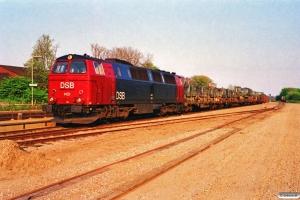 DSB MZ 1421+7 Rs+B som G 8849 Hl-Ka. Kauslunde 06.05.1990.