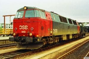 DSB MZ 1410+MH 310 som M 7141 Od-Fa. Fredericia 09.06.1990.