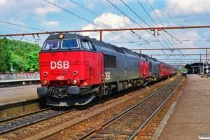 DSB MZ 1457+MZ 1460 med IC 159 Kh-Flb. Roskilde 02.07.1990.