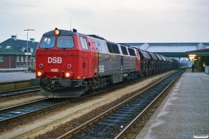 DSB MZ 1426+35 Tdgs som G 6171 Pa-Fa. Fredericia 29.09.1990.