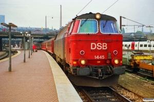 DSB MZ 1445 med P 5071 Hgl-Nf. København H 03.10.1990.