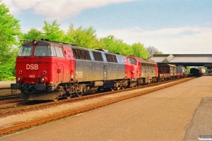 DSB MZ 1413+MY 1127 med G 7344 Ab-Pa. Fredericia 17.05.1991.
