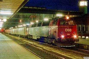 DSB MZ 1419+P+Pbm+Pbm+P+P som G 7592 Tov-Kh. Fredericia 24.05.1991.