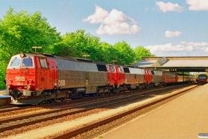 DSB MZ 1434+MZ 1431+MZ 1432 med IC 168 Fh-Ngf. Fredericia 01.06.1991.