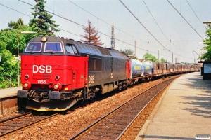 DSB MZ 1456 med G 40559 Kk-Rfø. Fuglebakken 03.07.1991.
