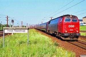 DSB MZ 1440+4 Bcm+WRm+BDk+Bcm som P 13285 Kh-Rf. Høje Taastrup 05.07.1991.