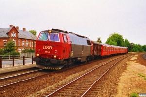 DSB MZ 1445+Gs+S-tog+Gs som G 6860 Rd-Htå. Børkop 04.07.1992.