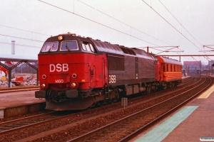 DSB MZ 1460+SJ Qib 80 74 985 0 235-8 som M 6437 Hg-Ab. Slagelse 01.04.1993.