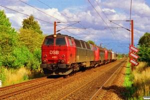 DSB MZ 1422+MY 1124+MY 1121 med G 7368 Gb-Pa. Km 24,8 Ng (Marslev-Odense) 18.07.1993.