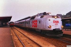 DSB MA 470+MA 465 med L 167 Kh-Fh og MR/D 52 med P 2876 Od-Svg. Odense 29.05.1988.