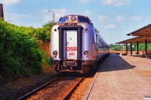 DSB BS 481+MA 460 med L 176 Fh-Kh. Langå 26.06.1988.