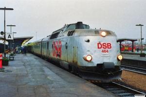 DSB MA 464+MA 462 som L 124 Str-Kh. Odense 06.01.1990.