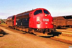 DSB MY 1116+Fals som G 7665 Fa-Es. Kolding 03.05.1989.