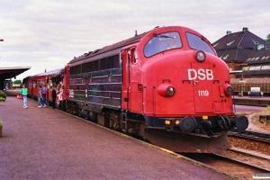 DSB MY 1119+MR/D 61 som M 6119 Od-Ar. Odense 29.05.1989.
