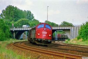 DSB MY 1153 med G 7667 Gb-Es. Odense 17.08.1989.