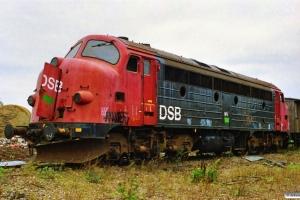 DSB MV 1144 ved Henriksen. Århus 08.10.1989.