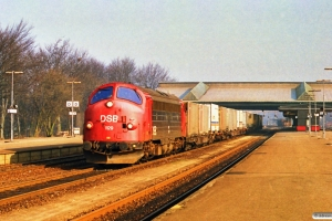 DSB MY 1129 med G 8718 Hj-Pa. Fredericia 18.03.1990.