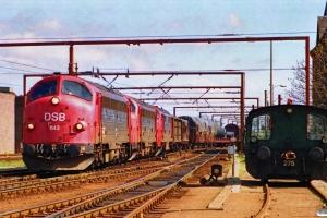 DSB MY 1143+MY 1115+MX 1024 med G 7241 Gb-Od. Odense 12.04.1990.