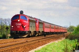 DSB MY 1156+MY 1158 med IC 119 Kh-Ti. Holmstrup 28.04.1990.