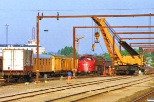 DSB MY 1116 og Fredericias hjælpetog. Odense 08.05.1990.