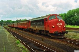 DSB MY 1142 med materiel til IC 431 Flb-Fh. Flensburg 24.06.1990.