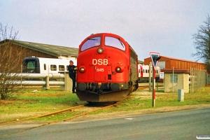 DSB MY 1145 kører ud fra Scandia. Randers 02.03.1991.