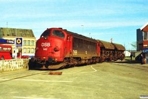 DSB MY 1142 rangerer. Åbenrå 26.03.1991.