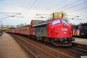 DSB ADns+4 B+MY 1158 som P 1564 Kø-Kh. Slagelse 07.05.1991.