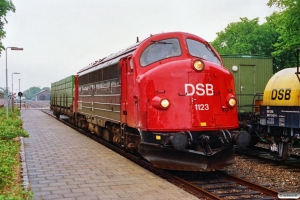 DSB MY 1123 med G 8317 Rb-Æk. Ribe 24.06.1991.