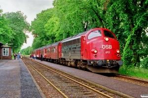 DSB MY 1157+Bn-v+Bn+ABns som Re 2445 Ro-Næ. Gadstrup 29.06.1991.