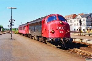 DSB MY 1153+B som Re 4224 Rf-Nf. Nykøbing F. 05.07.1991.