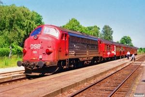 DSB ABns+Bn+Bn-v+MY 1151 som Re 2428 Næ-Ro. Herfølge 05.07.1991.