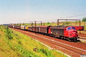 DSB MY 1153 med G 9130 Ab-Gb. Høje Taastrup 06.07.1991.