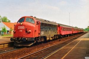 DSB MY 1115+3 B+2 Bn-n som P 8032 Kh-Pa. Middelfart 24.07.1991.