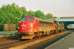 DSB MY 1104+MH 394+MH 400 som M 8314 Fa-Od. Fredericia 12.10.1991.