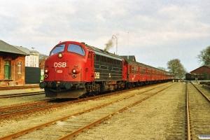 DSB MY 1159+8 Bn+ADns som P 6470 Ti-Kh. Thisted 30.12.1991.