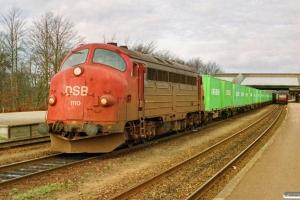 DSB MY 1110 med G 8772 År-Fa. Fredericia 19.03.1992.