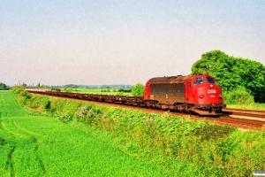 DSB MY 1114+23 skinne-/svellevogne som G 8224 Fa-Ng. Holmstrup 24.05.1992.