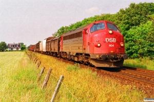 DSB MY 1104 med G 7966 Hj-Ab. Vrå 29.06.1992.