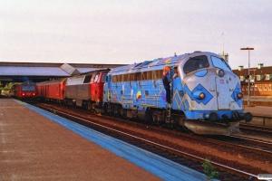 DSB MY 1126+MZ 1427+P+Pbm som G 7580 Tov-Fa. Fredericia 03.07.1992.